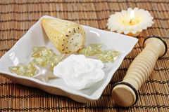 Spa detail. Spa, wellness or bath accessories Stock Images