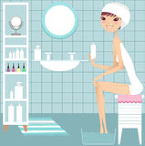 Spa DIY royalty free illustration