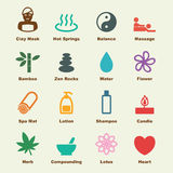 Spa elements. Infographic icons Royalty Free Stock Photography
