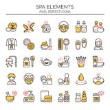 Spa Elements , Thin Line and Pixel Perfect Icons Stock Photo