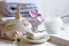 Spa essentials royalty free stock photography