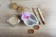 Spa essentials for a manicure Royalty Free Stock Images