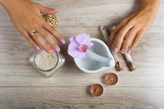 Spa essentials for a manicure Stock Photo