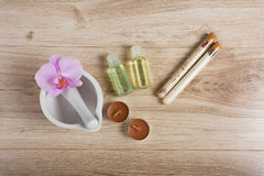 Spa essentials for a manicure Stock Photography