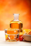 Spa essentials - orange aromatherapy Royalty Free Stock Image
