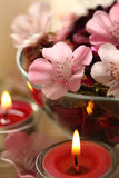 Spa evening aromatherapy stock images
