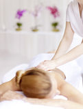 Spa experience back massage royalty free stock photography