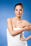 The spa expreience girl. Royalty Free Stock Image