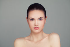 Spa Face. Healthy Woman with Clear Skin. Skincare Royalty Free Stock Images