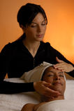 Spa Face Massage Stock Photo