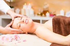 Spa face massage Stock Image