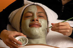 Spa Facial Aroma Mask Royalty Free Stock Image