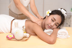 The spa facial and body massage. Women pay attention to health and beauty Stock Photography