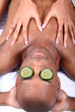 Spa - Facial with Cucumber Stock Photos