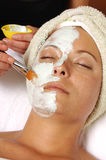 Spa Facial Mask Application Stock Images