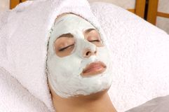Spa Facial Mask Full Application Royalty Free Stock Photography