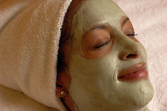 Spa Facial Mask Relaxation Royalty Free Stock Photos