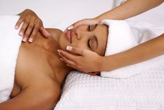 Spa facial treatment Royalty Free Stock Photos
