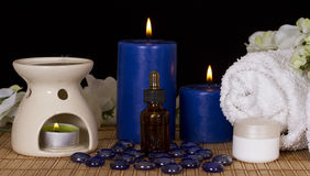 Spa facilities for massage and relaxation Stock Photos