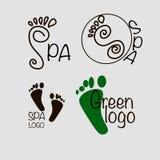 Spa feet logo Stock Photo