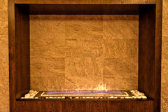SPA fireplace. Fireplace in a SPA centre stock images
