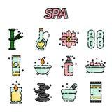 SPA flat icon set Stock Image