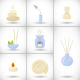 Spa flat  icons set Royalty Free Stock Images