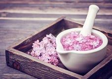 Spa Flores de la sal y de la lila del mar Fotografía de archivo libre de regalías