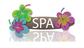 Spa Flower Bar. With shadow Royalty Free Stock Photo