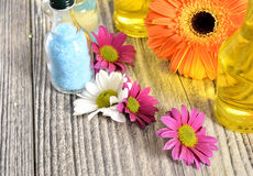 Spa flower, oil and salt Stock Images