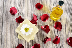 Spa flower, oil and soap Stock Photo