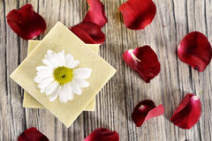 Spa flower and soap Royalty Free Stock Photography