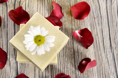 Spa flower and soap Royalty Free Stock Photo