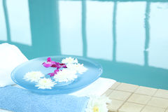 Spa with flowers Stock Images