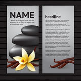 Spa flyer template with flower Stock Photography