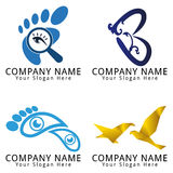 Spa, Foot and Beauty Concept Logo Royalty Free Stock Images