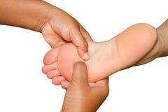 Spa foot massage Stock Photos