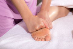 Spa foot by touch Royalty Free Stock Photos
