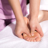 Spa foot by touch Stock Images