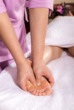 Spa foot by touch Stock Photos
