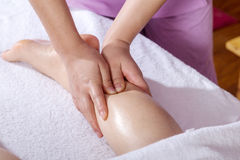 Spa foot by touch Royalty Free Stock Photography
