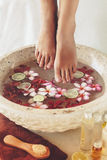 Spa foot treatment Royalty Free Stock Photography