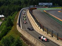 Spa - Francorchamps Belgium formula Renault race. Formula cars after race in paddock Stock Images