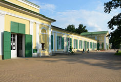 Spa Franzensbad with Colonnade salt and meadow springs Stock Images