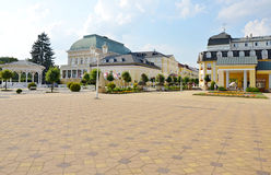Spa Franzensbad with pedestrian zone Royalty Free Stock Image