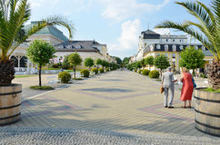 Spa Franzensbad with pedestrian zone Stock Images