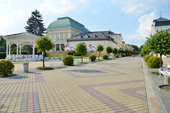 Spa Franzensbad with pedestrian zone Royalty Free Stock Images