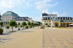 Spa Franzensbad with pedestrian zone Stock Photos