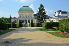 Spa Franzensbad with pedestrian zone Stock Photography