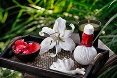 Spa in garden Stock Image